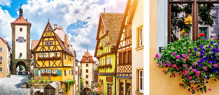 Rothenburg med Romantische Strasse